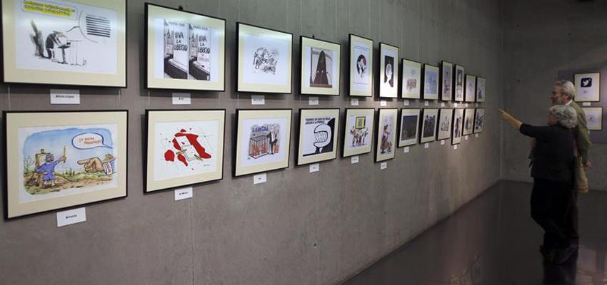 """Exposición """"Humoristas gráficos por la Libertad de Información"""""""
