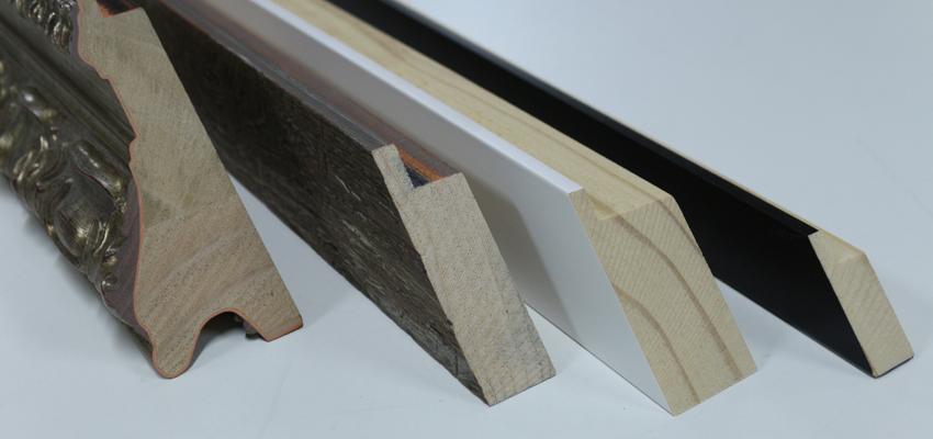 Corte de moldura de madera