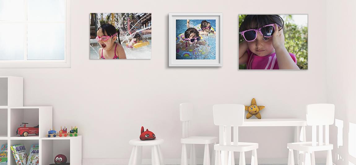 como Decorar habitación con fotos personalizadas de vacaciones con marcos a medida