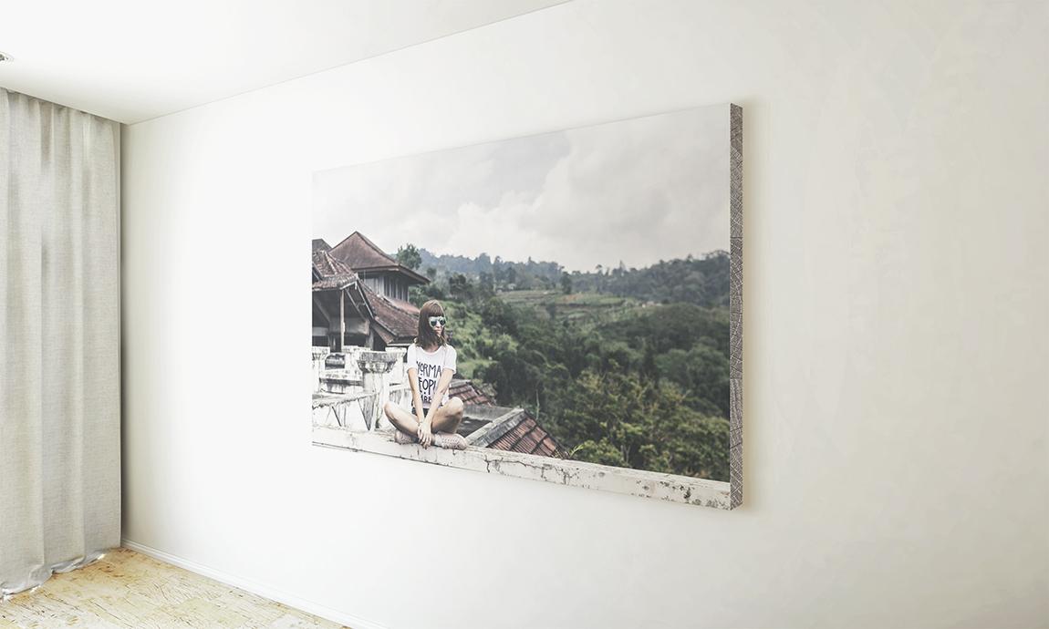 Imprimir y montar fotos de vacaciones sobre panel ligero RigidPan® para decorar con fotos personalizadas