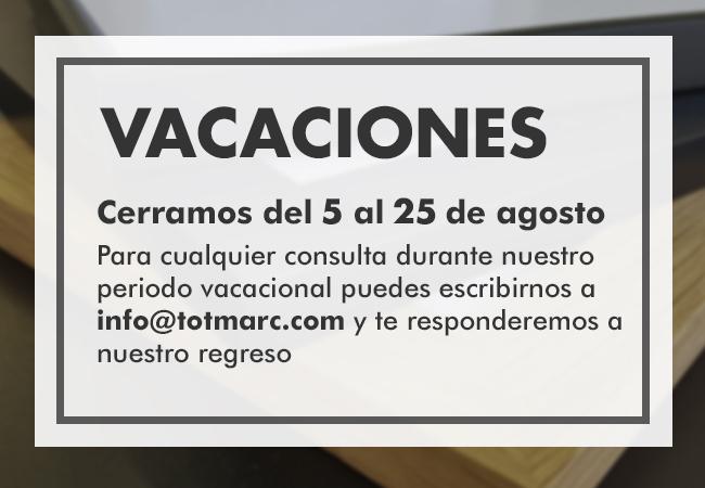Cierre vacaciones verano 2019 tot marc, fabricante de marcos a medida de madera y aluminio